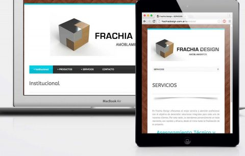 Sitio Web · Frachia Design