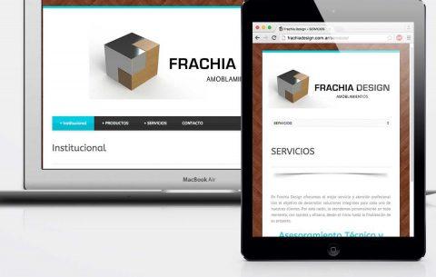 Sitio Web · Frachia Design