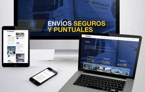 Sitio Web · Transporte Broast