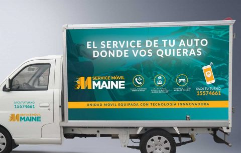 Ploteo vehicular · Maine Service Móvil