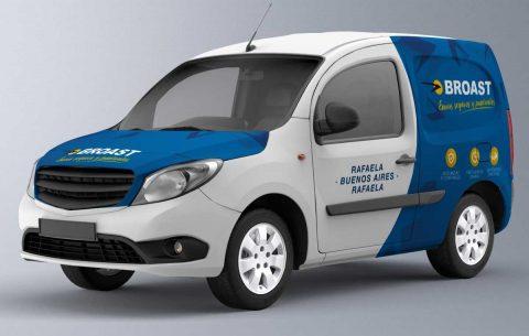 Ploteo vehicular · Transporte Broast