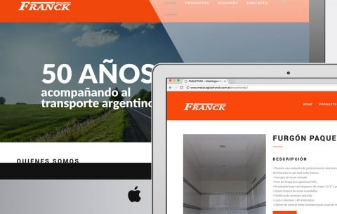 Sitio Web · Metalúrgica Franck